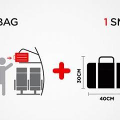 에어아시아, 기내 휴대 짐 2개 7kg까지 반입 가능