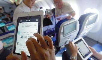 중국, 기내 전자기기 사용금지 해제하고 항공사 자율 허용