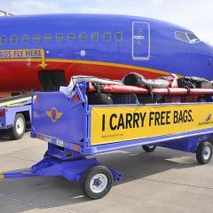 美 항공사 중 무료 수하물은 사우스웨스트항공만 가능