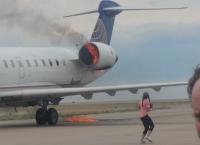 유나이티드 항공기 엔진 화재, 승객 비상 탈출