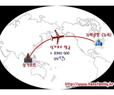 세계 최장거리 항공노선 톱 10 (2014년 기준)