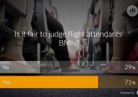 항공사가 승무원 몸무게 관여하는 게 타당하다? (설문 조사 & 결과)