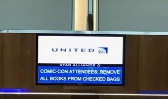 '수하물에 만화책 못 넣어' 유나이티드항공, TSA 설전