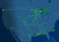 비행 궤적으로 거대 그림 그려낸 B787