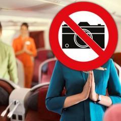 가루다 인도네시아항공, 기내에서 사진·동영상 촬영 금지