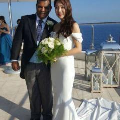 에어아시아 회장 결혼, 신부는 한국인 여배우 출신? 사진