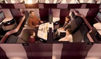 카타르항공, 비즈니스클래스 더블베드 서비스