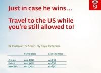 이런, 트럼프 농담이 진짜가 되어 버렸네 - 항공 광고