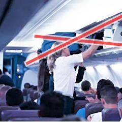 이탈리아, 항공기 기내 휴대 수하물 반입 금지 ·· 코로나 때문에