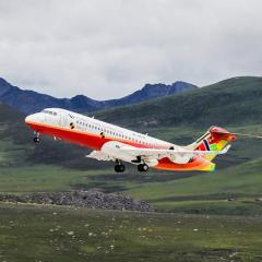 중국산 항공기 ARJ21, 세계에서 가장 높은 공항 시험비행 성공